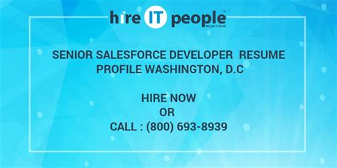 senior salesforce developer resume profile washington d c