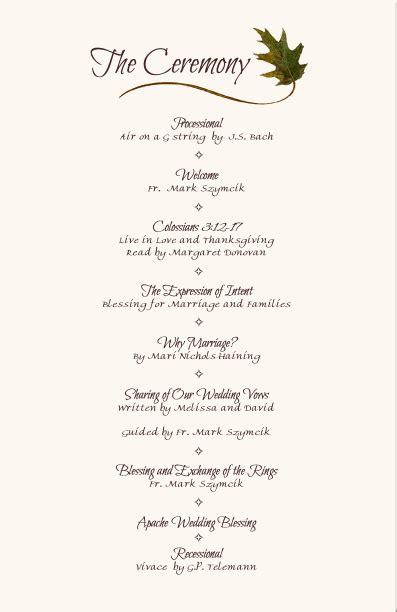 wedding reception program sample service kids wedding