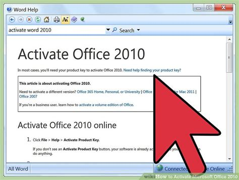 how to activate microsoft office 2010 with pictures wikihow