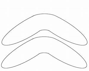 boomerang template free to use crafts pinterest With australian boomerang template