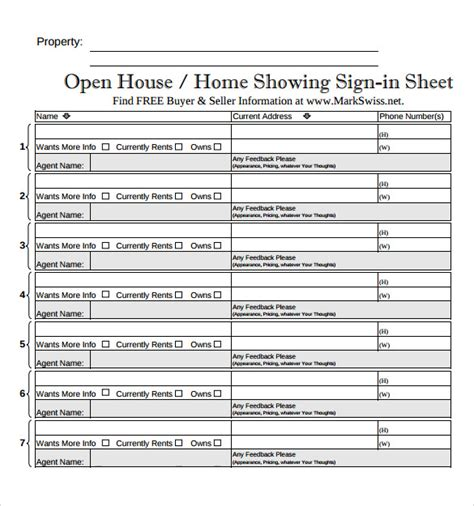 sample open house sign  sheets sample templates