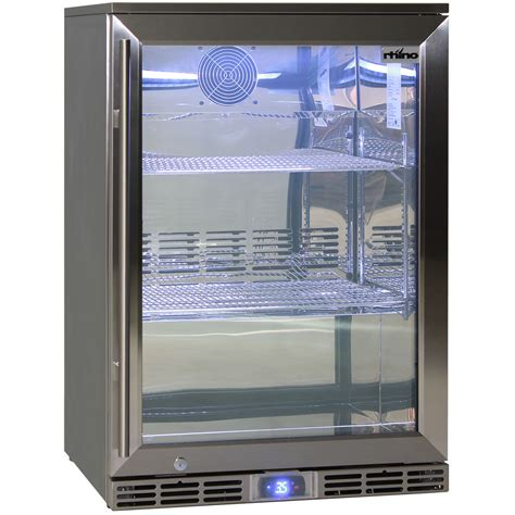 outside bar fridge alfresco glass door all stainless steel