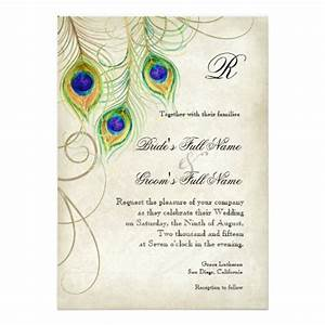 peacock feathers wedding invitation zazzle With zazzle wedding invitations promo code