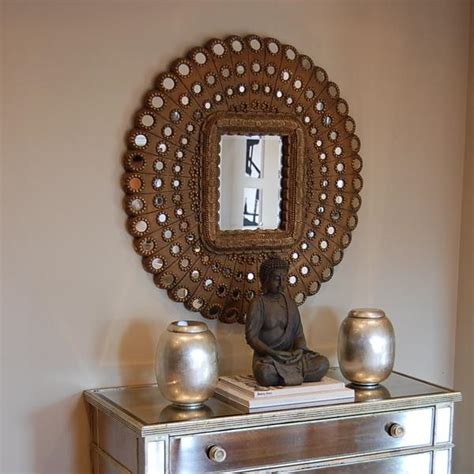Pier One Mirrored Chest by Peacock Mirror Contemporary Living Room Benjamin