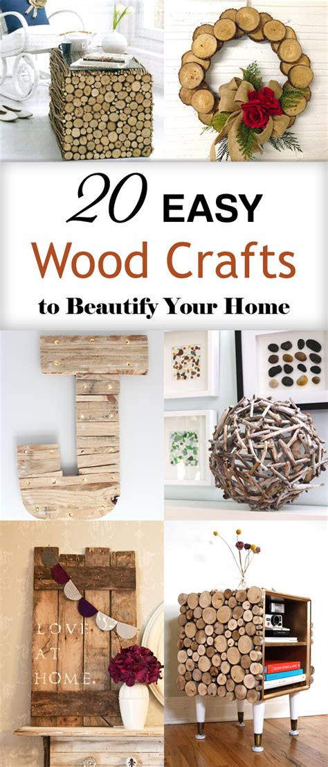 easy wood crafts  beautify  home