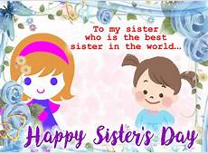 The Best Sister In The World Free Sister's Day eCards