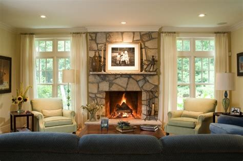 living room with fireplace and windows window beside fireplace family room decorating