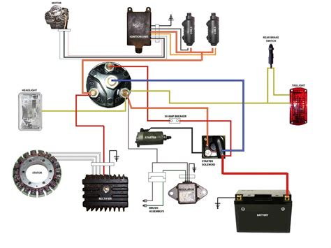 simplified wiring diagram for xs400 cafe projects to try motorcycle wiring motorcycle