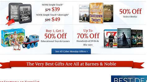 Barnes And Noble Slash Nook Prices For Cyber Monday