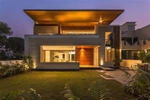 A, Sleek, Modern, Home, With, Indian, Sensibilities, And, An, Interior, Courtyard