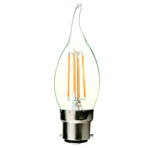 clear tip filament led candle household light bulb