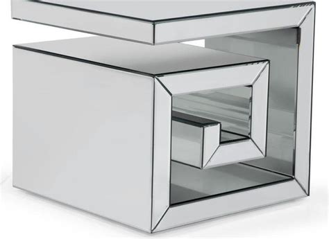 mirrored cube end table mirrored end tables