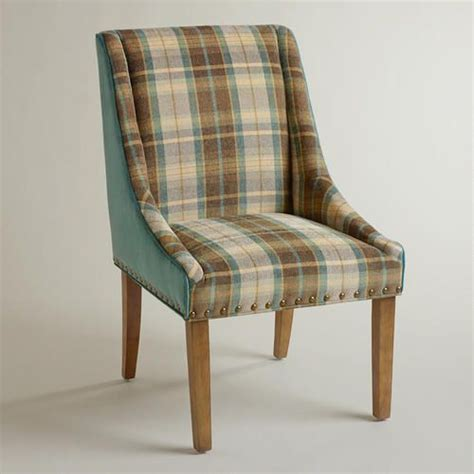 plaid and teal green wes dining chair nesting