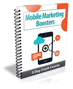 mobile marketing course mobile marketing boosters 5 day crash course with