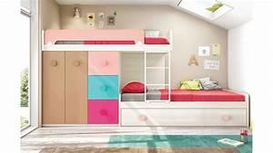 Lits superposes avec lit gigogne fun et moderne glicerio for Luminaire chambre enfant avec matelas dunlopillo bz