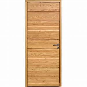 Porte d39entree en bois massif a isolation thermique for Isolation porte d entrée en bois