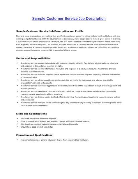 customer service resume description resume exles 2017