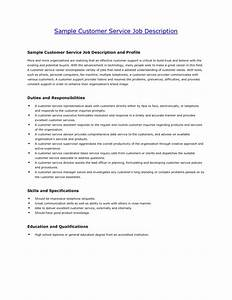 customer service job description for resume jmckellcom With how to make a resume for customer service position