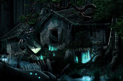 wallpaper gothic fantasy fantasy ruins night time building