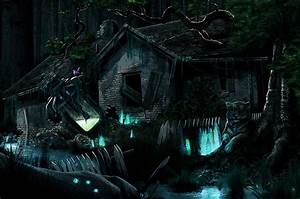 Wallpaper Gothic Fantasy Fantasy Ruins night time Building