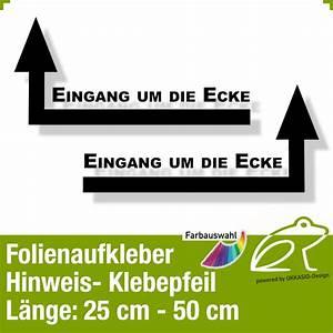 Gardinenstange Um Die Ecke : klebepfeil 3 hinweispfeile eingang um die ecke ~ Michelbontemps.com Haus und Dekorationen