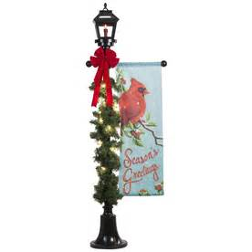 shop gemmy  ft lighted lamp post outdoor christmas