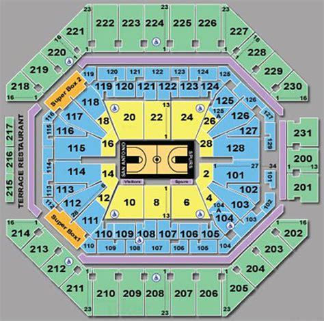 san antonio spurs seating chart att center