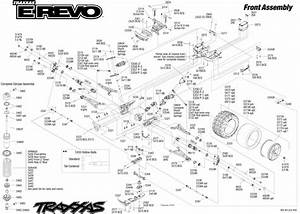 Exploded View  Traxxas E-revo 1 10