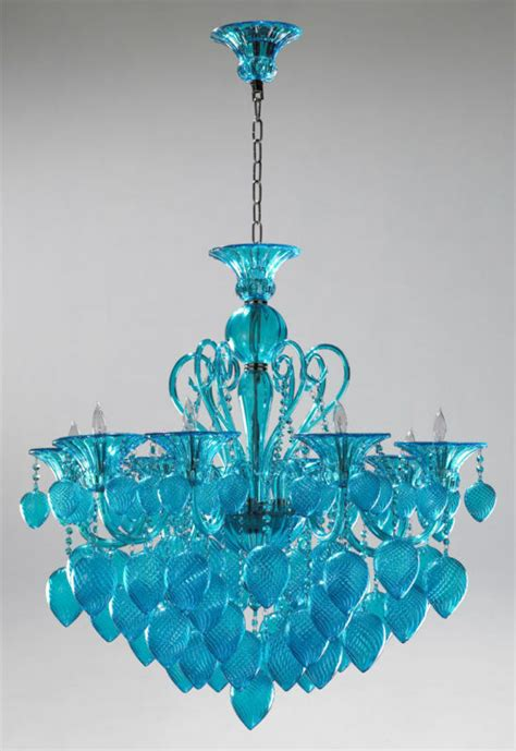 Aqua Chandelier by Cyan Design 04618 Chianti Aqua Glass 8 Light