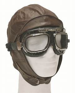 AVIATEUR Capot En Cuir Marron Bonnet Protection Contre