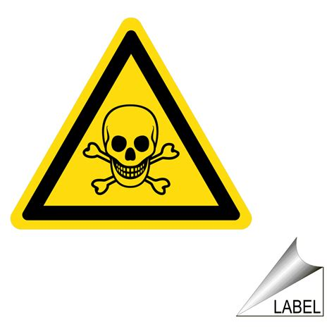 poison symbol label label triangle  chemical
