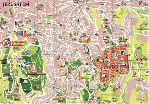 large jerusalem maps     print high