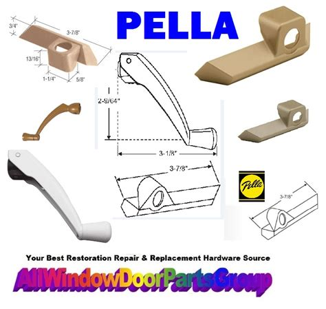 pella casement awning window parts folding handles covers truth window hardware