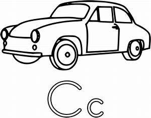 Easy Car Coloring Pages Letter C | Coloring Pages ...