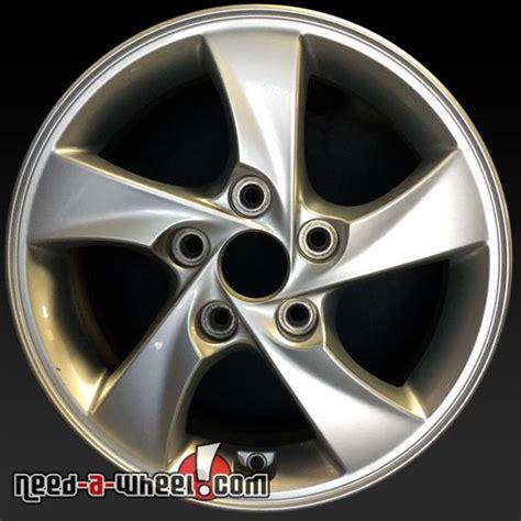 hyundai elantra wheels oem   silver rims