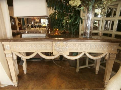 marge carson sofa table at the missing piece