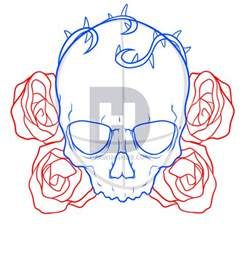 Easy to Draw Skulls and Roses Drawings