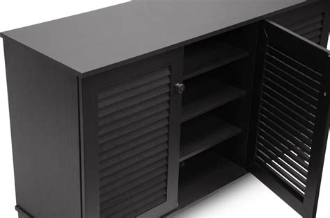 Baxton Shoe Cabinet Assembly by Baxton Studio Warren Espresso Shoe Storage Cabinet