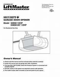 Liftmaster Professional Garage Door Opener Instructions