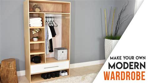 diy closet modern wardrobe   drawer youtube
