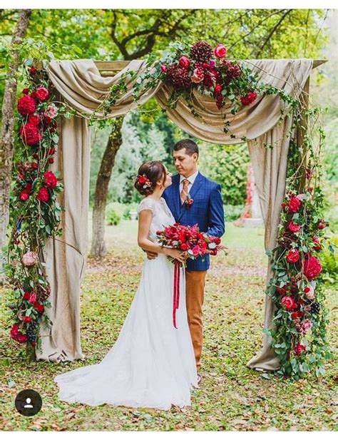 40 Outdoor Fall Wedding Arch And Altar Ideas Hi Miss Puff