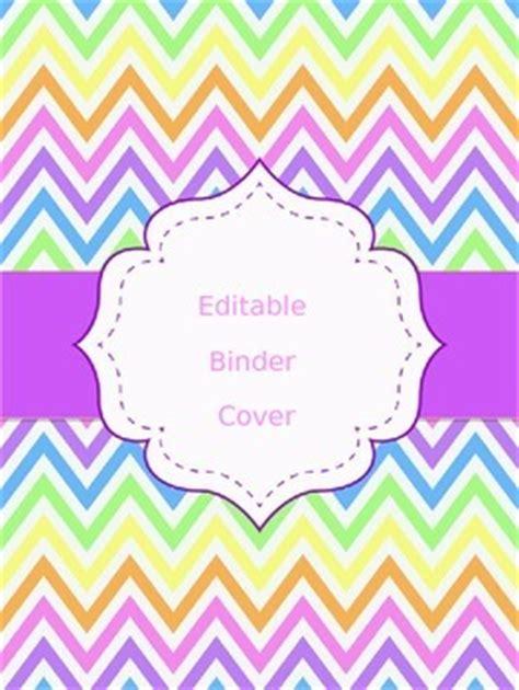 chevron binder cover editable  lindsey ventura tpt