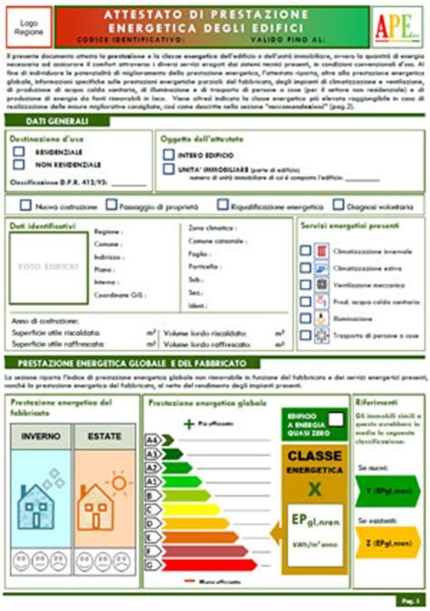 certificazione energetica capannone certificazione energetica edifici il nuovo ape dal 1