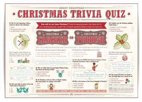 6 best images of easy christmas trivia printable free
