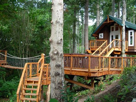 Furniture, Awesome About Treehouse Designs Free With Nice