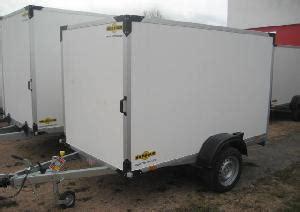 pkw kofferanhänger gebraucht pkw kofferanh 228 nger 1 achs pkw anh 228 nger mit koffer aufbau einachsig in freiburg calw bad