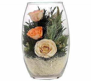 Rosen Im Glas : pur fleur echtblumen rosen im ovalen glas h ca 20cm page 1 ~ Eleganceandgraceweddings.com Haus und Dekorationen
