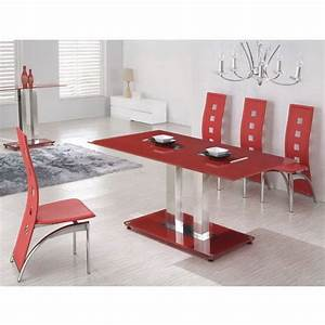 table a manger rouge With table salle a manger extensible 12 couverts pour petite cuisine Équipée