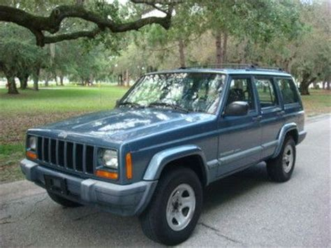 blue grey jeep cherokee purchase used jeep cherokee 4dr sport 4x4 clean cold a c