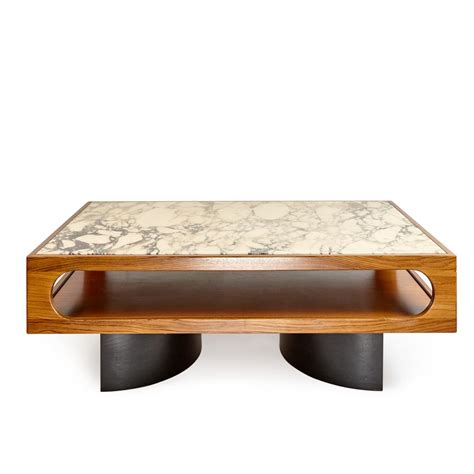 Perfect combined with other nordic furniture. An Italian Rosewood and Marble Coffee Table - Price Estimate: $1800 - $2500